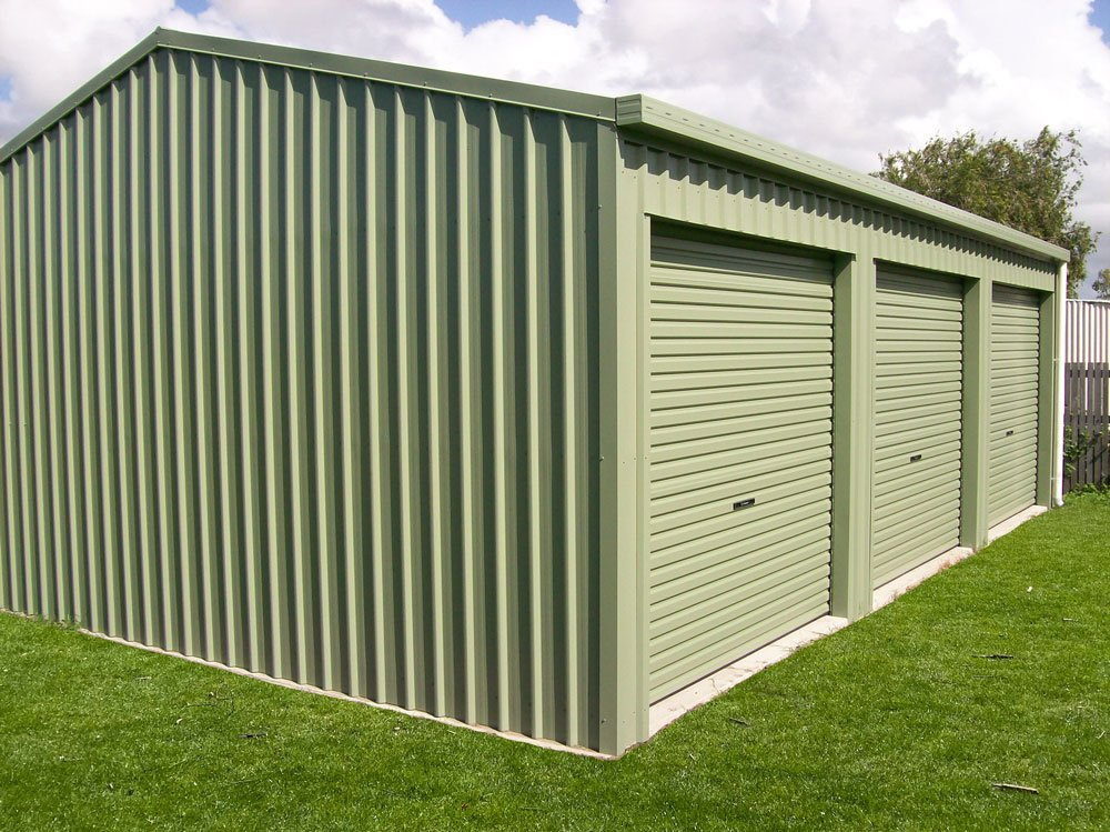 3 Bay Mist Green Domestic Shed