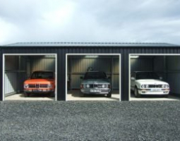 3 Car Display Shed with cars