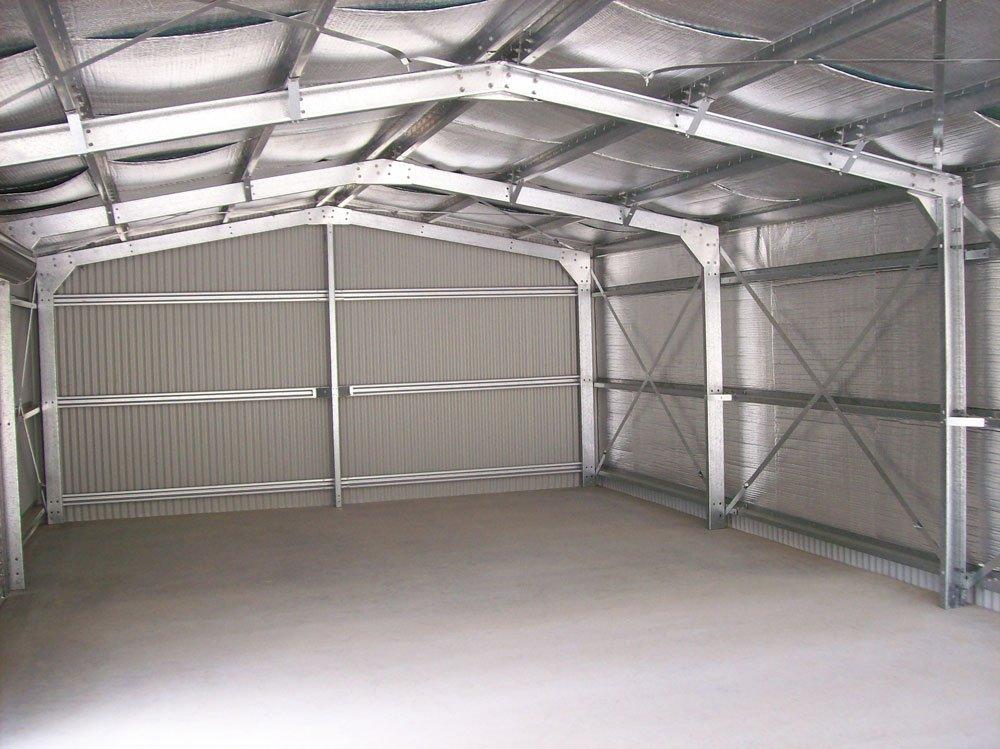Interior portal frames of garage