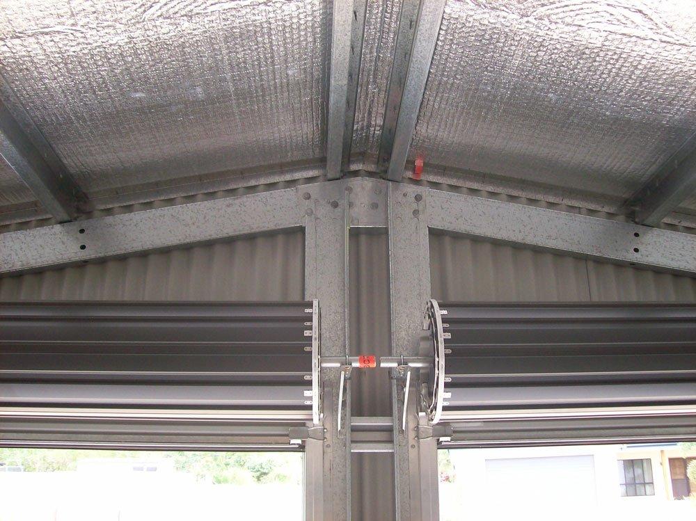 Double roller door opening